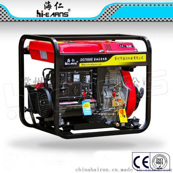 5.5KW开架款220V柴油发电机,家用备用电源发电机,单缸风冷柴油发电机