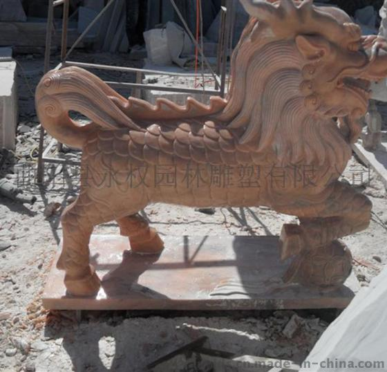 河北动物石雕石麒麟雕塑厂家直销