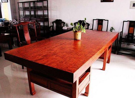 实木大板茶桌图片,实木大板茶桌高清图片 花木兰木雕工艺厂,中国制造网