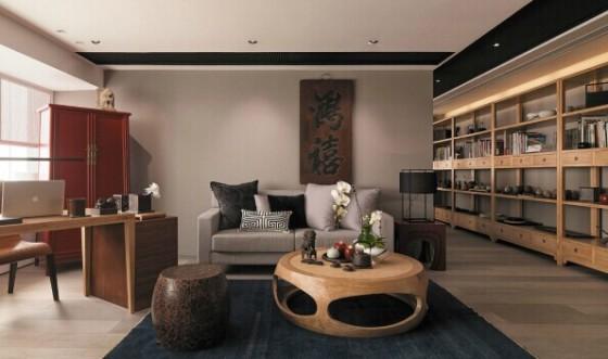 中式办公室装修设计效果图-成都办公室装修-实景图图片
