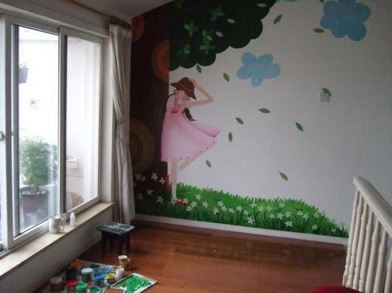 手工墙体彩绘,手绘墙画