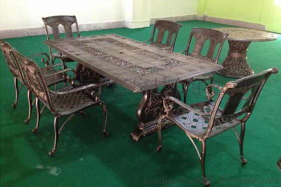 圣保罗铸铝桌椅 花园别墅休闲椅 户外家具(KY-9118)