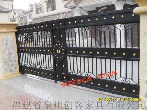 北京创客铁艺庭院门别墅门铁艺大门防盗门防盗窗铁艺