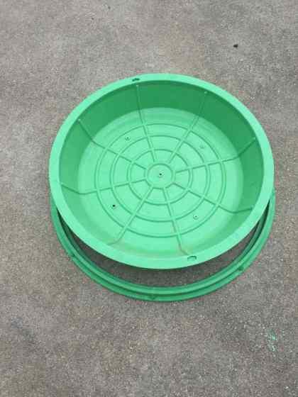 复合隐形井盖 500圆形smc草坪草盆井植草井盖下沉式隐形井盖图片