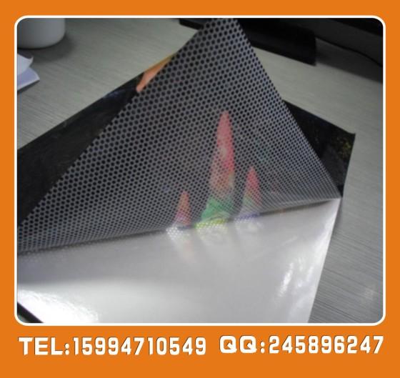 深圳玻璃贴 户外单透贴,透明玻璃贴,透明背胶