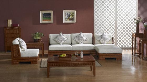 家具摆设 沙发 转角沙发 新中式潮流家具沙发  高清大图查看详情>图片