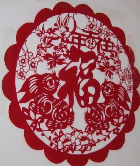 兔剪纸窗花图片,兔剪纸窗花高清图片 个人用户 宋明胜 ,中国制造网