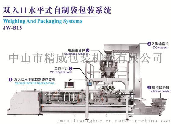 水平式袋包机, 调味酱 膏霜包装机,自动给袋式填充机