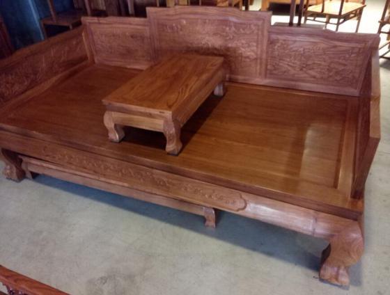缅甸花梨 虎脚罗汉床 客厅休闲家具 红木家具专业定制 批发价格图片,