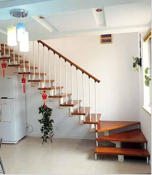 l型钢木楼梯