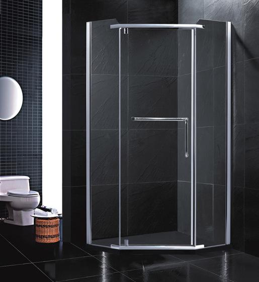 一体式卫生间钻石形淋浴房转轴门
