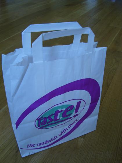 手挽纸袋 2015新款 批量供应带丝带logo烫银手挽纸袋 阿里巴巴