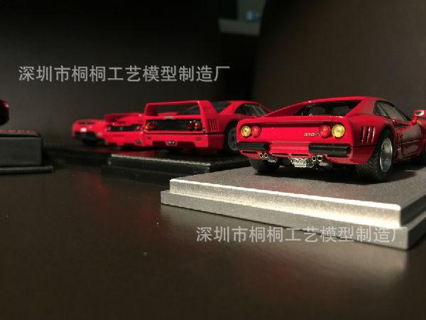法拉利红色汽车模型-仿真汽车模型厂桐桐模