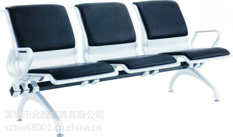 三人排椅钢架等候椅、不锈钢机场椅尺寸图片
