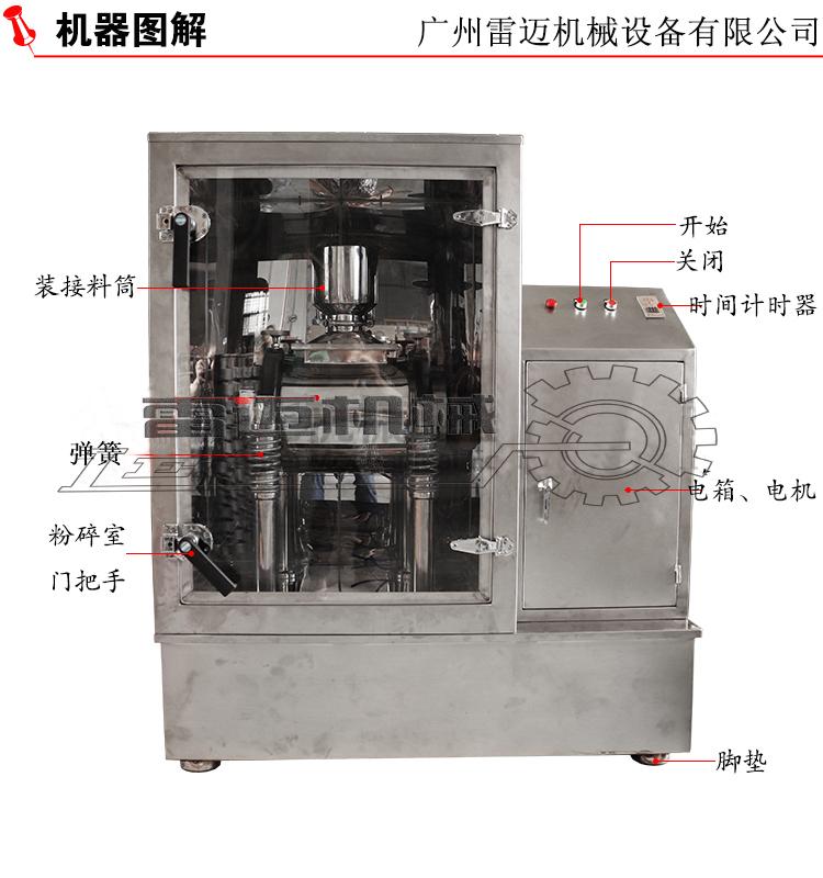 广州雷迈机械新品超微震动磨上市【灵芝、虫