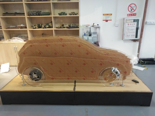 零件展示汽车模型