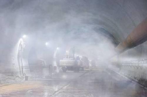 隧道竖井盾构施工喷雾降尘系统应用初探