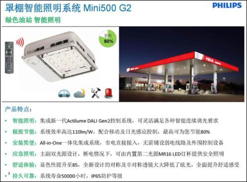 中国加油站替换节能方案,飞利浦全新推出Mini500 BCP/BBP/BGP500系列LED油站灯