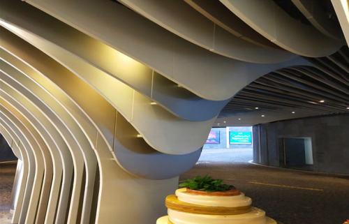 背景墙铝方通-造型铝方通效果