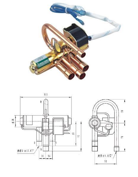 四通换向电磁阀 (dsf型)图片