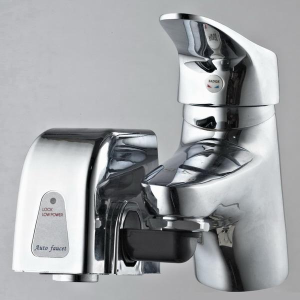 水龙头变成自动感应水龙头;使用方便,经济实惠,安装简单.公司