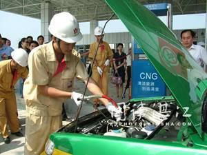 汽车加气应用工程,lng加气站,l cng汽车生产供应商 工业装配高清图片