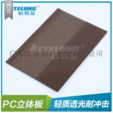 科特龍供應PC單面透明磨砂板3.0mm玻璃隔斷透明採光板防刮花擋板