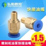 雕刻机加油泵 铸铝油壶 手动注油泵雕刻机配件润滑注油器快接油嘴
