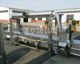 威海连续燃气油炸流水线 海产品油炸设备 糕点油炸机