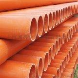 UPVC电力管穿线管PVC高低压电缆保护管