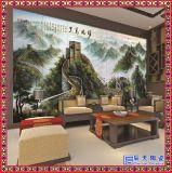 中式玄关陶瓷大型壁画 电视背景墙客厅装饰画 纯手绘定制