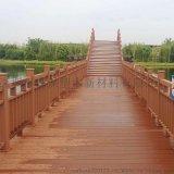 sambo森保塑木景区栈道塑木护栏公园河道栏杆围栏