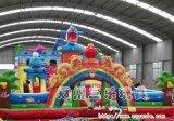 河北省新乐市大型充气滑梯大鲨鱼儿童充气蹦床