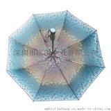 歐凱雨傘  雨傘定做  三折傘 8K 手動21寸 雨傘廣告傘定制 禮品傘