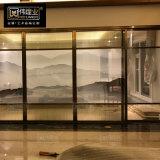 不鏽鋼玻璃屏風不鏽鋼花格隔斷酒店裝飾玄關