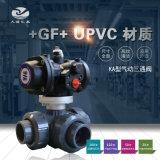 +GF+ 543型UPVC氣動三通球閥
