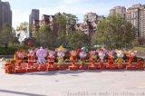 玻璃鋼雕塑定制生肖鼠年春節吉祥物卡通商場活動美陳戶外招財擺件