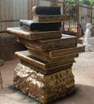东莞雕塑、校园雕塑、大型雕塑、广东校园雕塑、校园书箱类雕塑