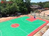 长沙学校塑胶篮球场彩色地坪专业施工厂家
