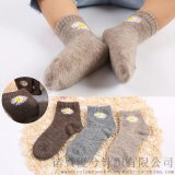 秋冬新品兒童羊絨襪小雛菊羊毛羊絨保暖男女童羊毛襪
