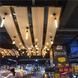 凹槽木紋吊頂鋁方通 衝孔U型鋁方通吊頂