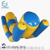 厂香蕉船陀螺加厚充气双排跷跷板蹦床风火轮