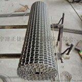 供应660型长城网带金属片高温输送网链不锈钢马蹄链