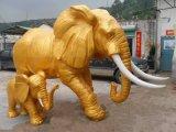 玻璃钢大象雕塑,园林景观动物雕塑,仿真大象雕塑