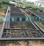 現貨黑黃圓管公路鐵馬護欄 圓管焊接交通安全防撞隔離欄