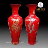 純手工落地陶瓷花瓶_景德鎮手繪落地陶瓷花瓶_陶瓷落地花瓶圖片
