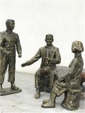 戶外景觀仿銅人物雕塑 玻璃鋼造型 公園休閒人物