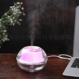 水晶夜灯加湿器 美容加湿器 USB空气净化器 迷你加湿器 车载家用