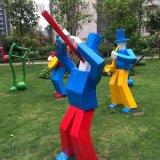 玻璃鋼卡通雕塑,抽象幼兒園人物,戶外廣場園林
