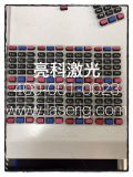 重慶大量承接塑膠硅膠透光按鍵鐳射鐳雕刻字永久不掉色